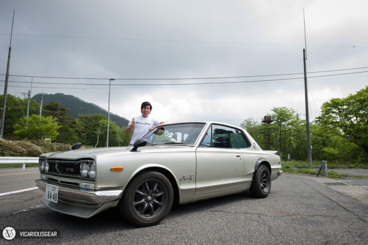 Water tower, starting straight, hakosuka...and me.